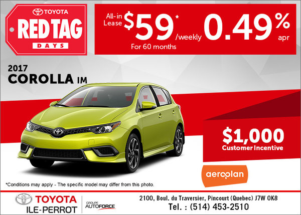 Lease the 2017 Corolla iM Today!