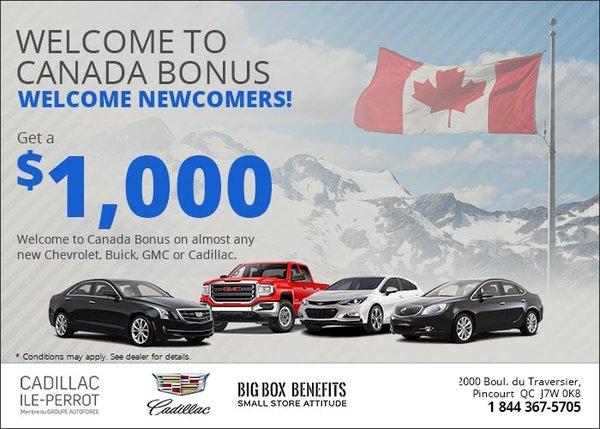 Nissan Ile Perrot >> Welcome To Canada Bonus At Cadillac De L Ile Perrot
