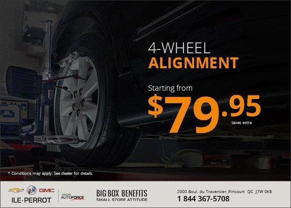Gm Ile Perrot >> 4 Wheel Alignment Chevrolet Buick Gmc De L Ile Perrot