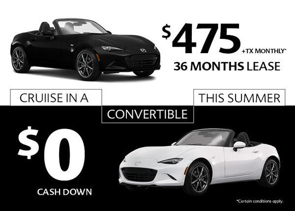 Cruise in a convertible this Summer
