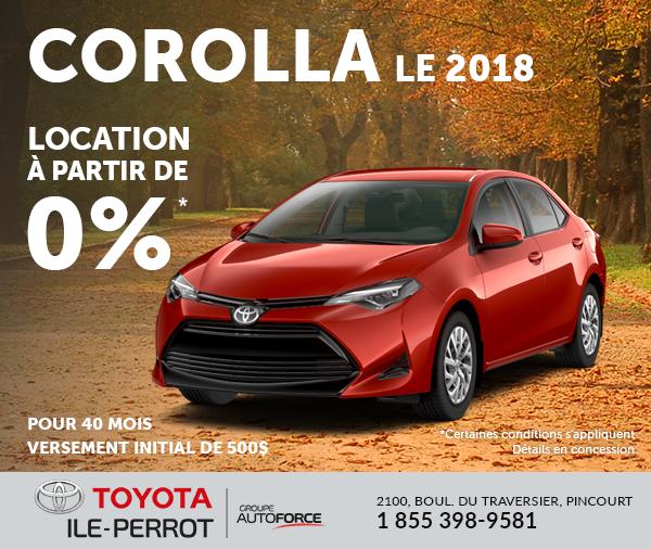 Corolla LE 2018