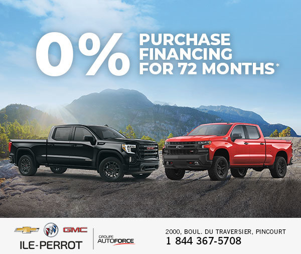 0 Purchase Financing Cadillac Chevrolet Buick Gmc Inc île Perrot