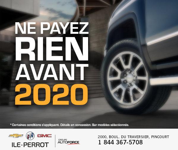 Ne payez rien avant 2020!