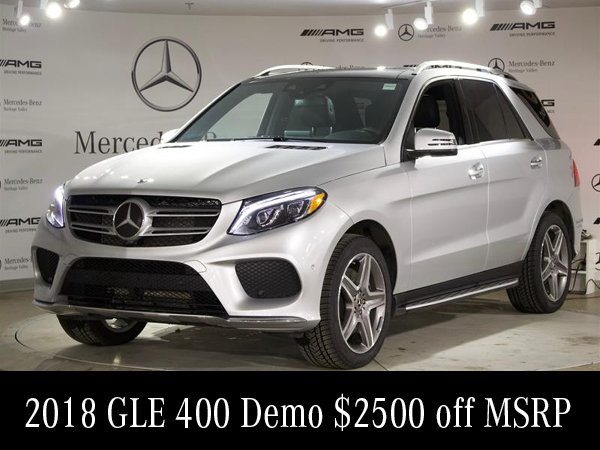 2018 GLE 400 Demo $2500 off MSRP