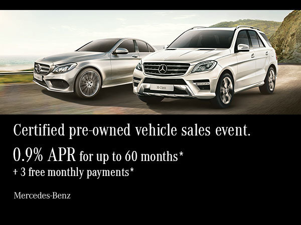 Certified pre-owned vehicle sales event.