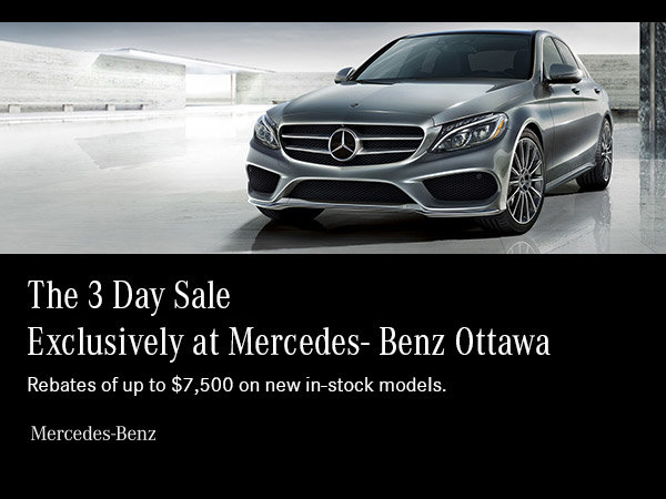 3 Day Sale at Mercedes-Benz Ottawa Downtown