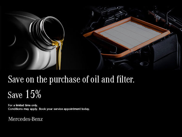 Save 15% on oil and filter.