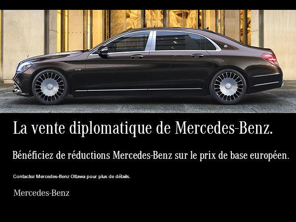 La vente diplomatique de Mercedes-Benz.