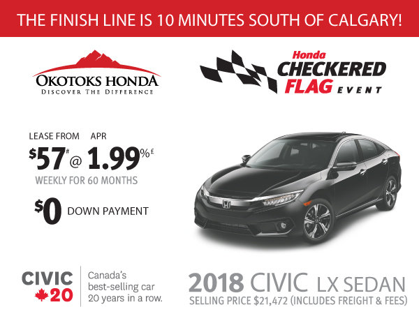 Honda Civic LX at Okotoks Honda (South of Calgary)