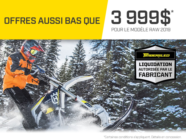 Alary Sport - Promotion mensuelle sur Timbersled