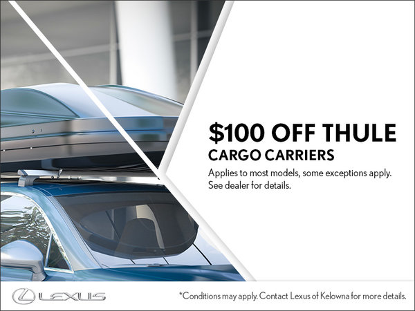 $100 Off Thule Cargo Carriers