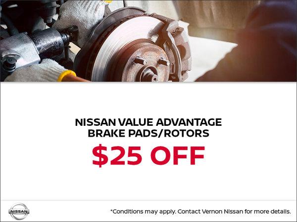 Nissan Value Advantage Brake Pads/Rotors