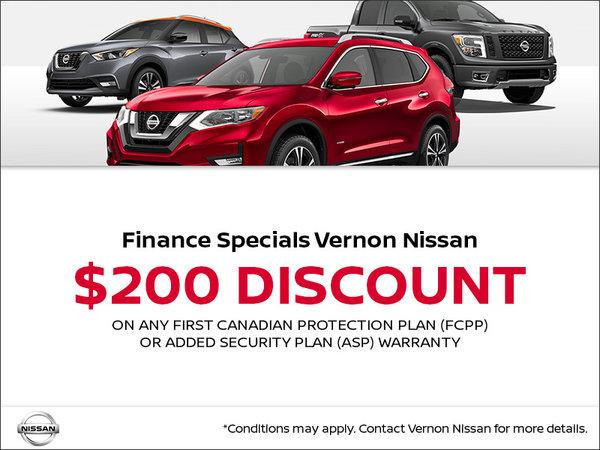 Vernon Nissan $200 Discount