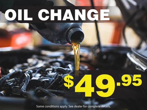 $49.95 Oil Change