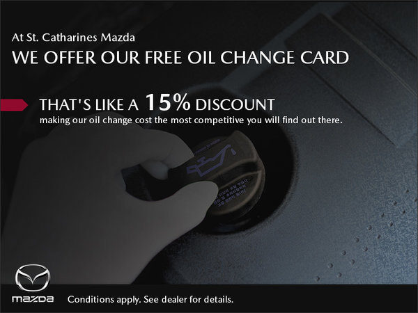 St. Catharines Mazda - Free Oil Change Program