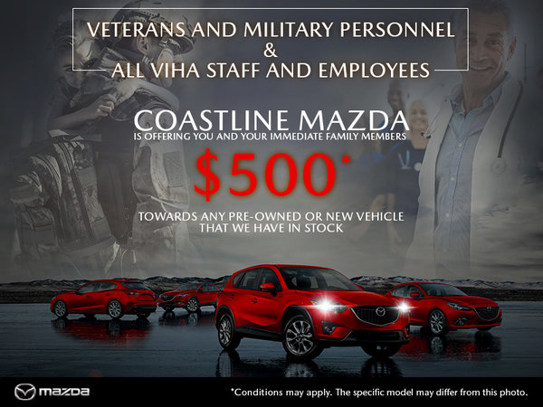 Coastline Mazda - Military & VIHA Discount!