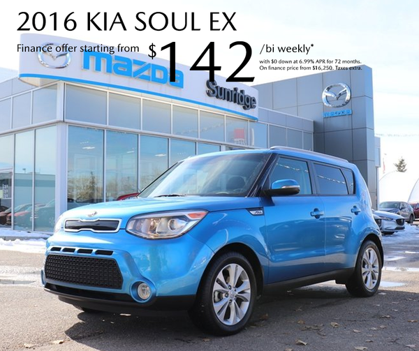 Get a 2016 Kia Soul today!