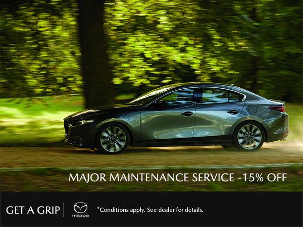 Get 15% Off Major Maintenance Service