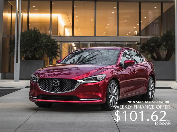 Get a 2018 Mazda 6 Signature Today!