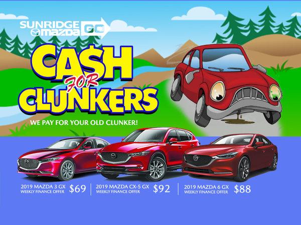 Sunridge Mazda's Cash For Clunkers
