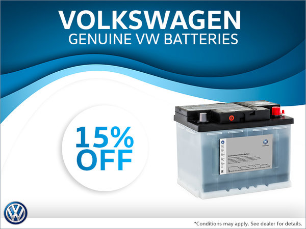 Get 15% Off Genuine Volkswagen Batteries!