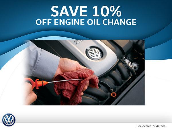 Get 10% Off Oil Change