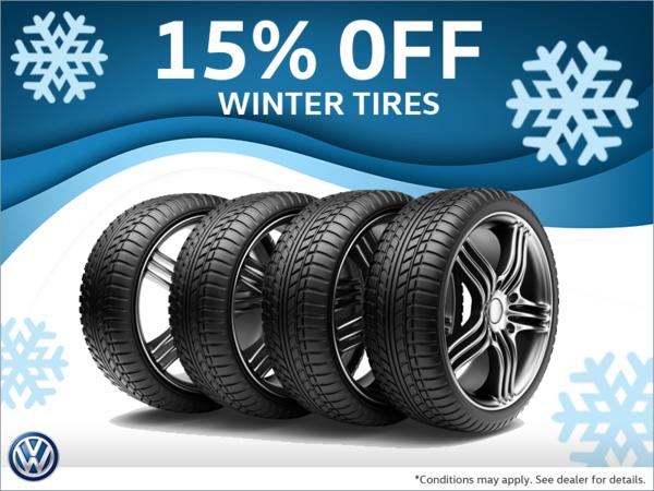15% Off Winter Tires