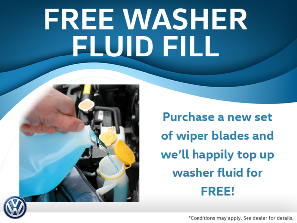 Free Washer Fluid with Wiper Blade Purchase