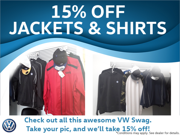 15% Off Jackets & Shirts