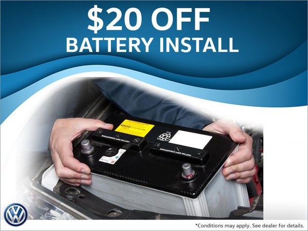 Save on Battery Installs!
