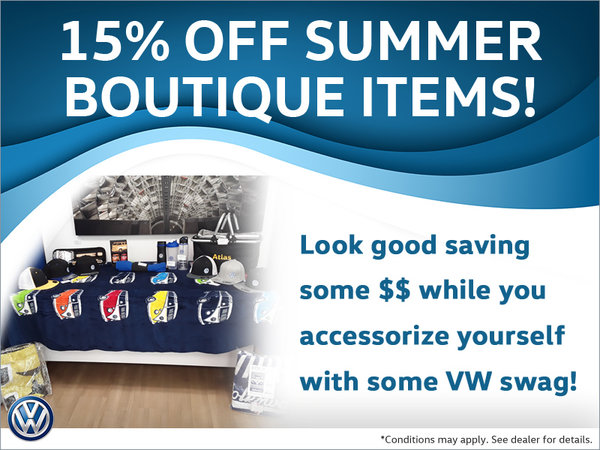 Save on VW Boutique Items!