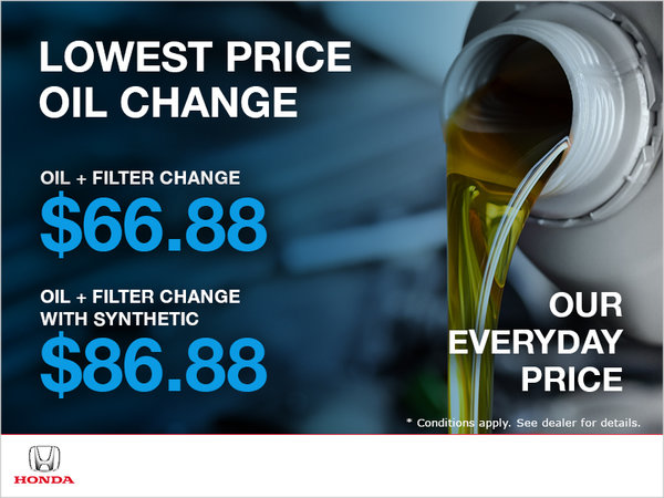 Lowest Price Oil Change