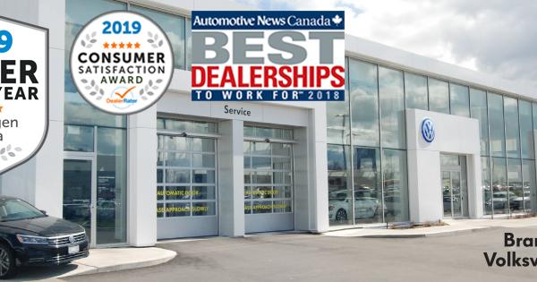Bramgate Volkswagen Wins 2019 DealerRater Volkswagen Dealer of the Year Award
