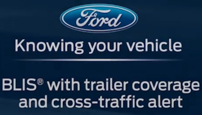 BLIS with cross traffic alert and trailer tow Trailer reverse guidance