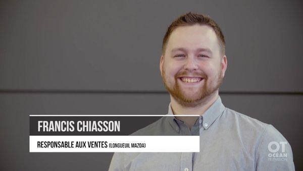 [VIDEO] Capsule Métier: Francis Chiasson -Représentant des ventes - Longueuil Mazda