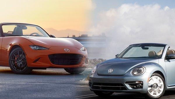 Duel de cabriolets :Beetle ou MX-5?