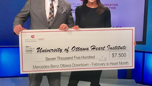 Mercedes-Benz Ottawa Downtown is matching your donation in February