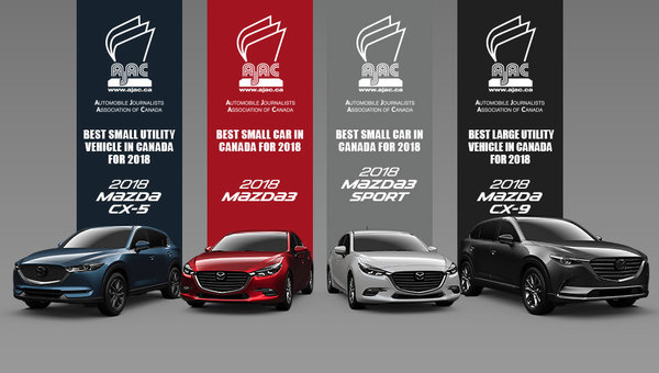 Mazda Wins Three Car Of The Year Awards From AJAC