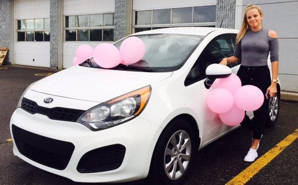 Félicitations à Madame Deslauriers pour sa toute première voiture !!!!!
