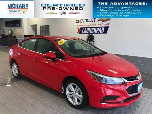 2017 Chevrolet Cruze LT  BLUETOOTH, REAR VIEW CAMERA, HEATED SEATS  - $117.69 B/W