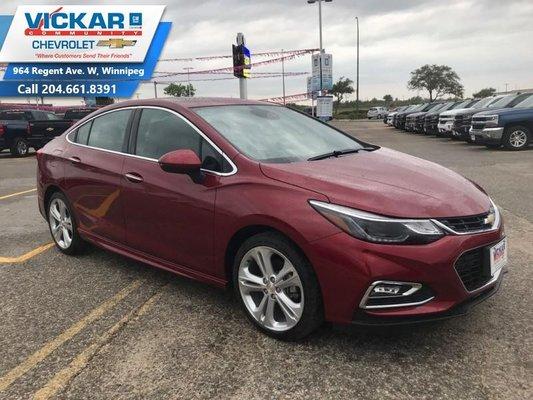 2018 Chevrolet Cruze Premier  - $159.47 B/W