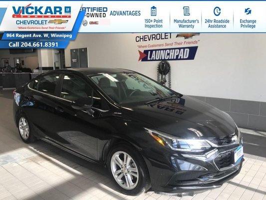 2018 Chevrolet Cruze LT  BOSE AUDIO, SUNROOF, REMOTE START  - $133.77 B/W