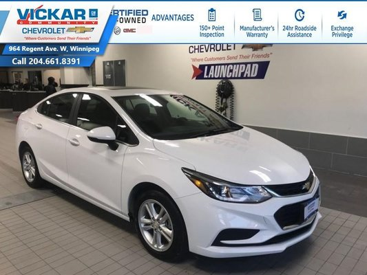 2018 Chevrolet Cruze LT REMOTE START, BOSE, SUNROOF !!!