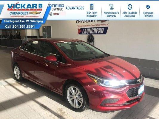 2018 Chevrolet Cruze LT  BOSE AUDIO, SUNROOF, REMOTE START   - $126.37 B/W