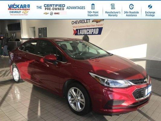 2018 Chevrolet Cruze LT REMOTE START, BOSE, SUNROOF !!!  - $127.15 B/W