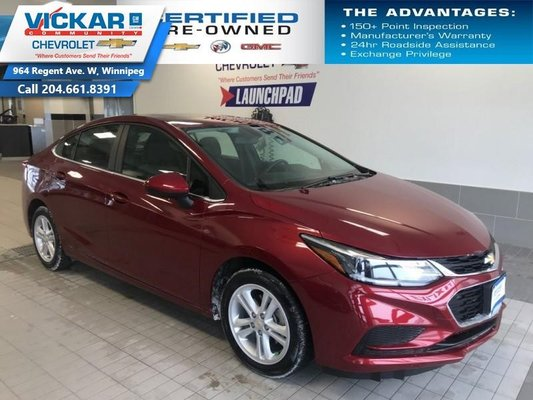2018 Chevrolet Cruze LT  BOSE AUDIO, SUNROOF, HEATED SEATS