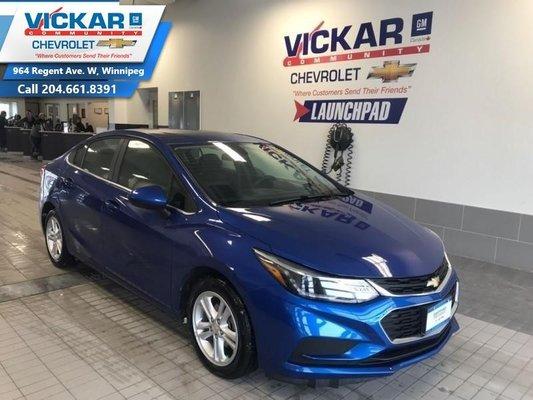 2018 Chevrolet Cruze LT, BOSE AUDIO, SUNROOF, HEATED SEATS  - $127.04 B/W