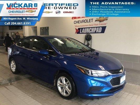 2018 Chevrolet Cruze LT, BOSE AUDIO, SUNROOF, BACK UP CAMERA  - $130 B/W