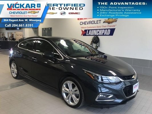 2018 Chevrolet Cruze Premier  LEATHER SEATS, HEATED STEERING WHEEL AND SEATS, BLUETOOTH  - $140.65 B/W