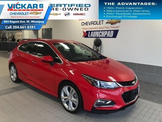 2018 Chevrolet Cruze Premier   LEATHER INTERIOR, HEATED STEERING WHEEL AND SEATS, BLUETOOTH  - $137 B/W